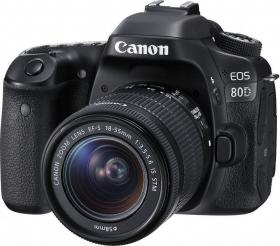 Canon EOS 80D Kit (18-55mm IS STM) Black (1263C034AA)