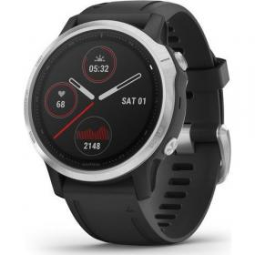 Garmin Fenix 6S (Silver with Black Band) (010-02159-01)