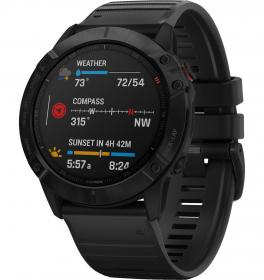 Garmin Fenix 6X Pro (Black with Black Band) (010-02157-01)